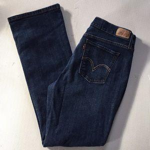 Ladies Levis 515 Bootcut Blue Jeans
